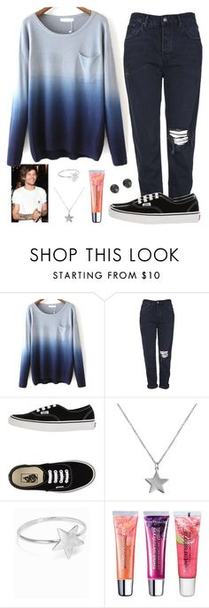 """*//All my favourite conversations always made in the a.m.\\*"" by crazydirectionergirl ❤ liked on Polyvore featuring Topshop, Vans, Belcho, Maybelline and SO"