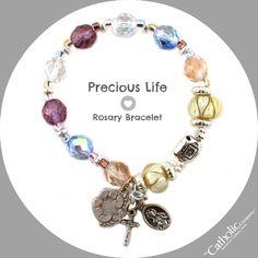 Precious Life Rosary Bracelet #CatholicCompany