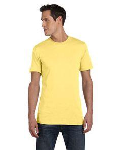 Bella + Canvas Unisex Jersey Short-Sleeve T-Shirt 3001C YELLOW