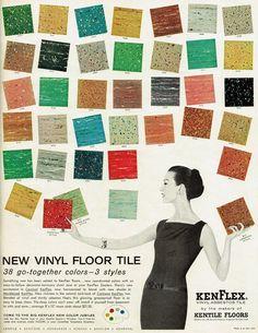 1950s Vintage Ad flooring samples
