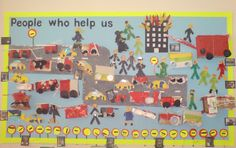A super People Who Help Us classroom display photo contribution. Great ideas for your classroom! Teaching Displays, Class Displays, School Displays, Classroom Displays, Work Activities, Preschool Activities, Early Years Displays, Nursery Display Boards, Eyfs Classroom