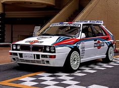 Lancia Delta HF Intergrale evo II! Nothing makes this car better than the Martini livery!