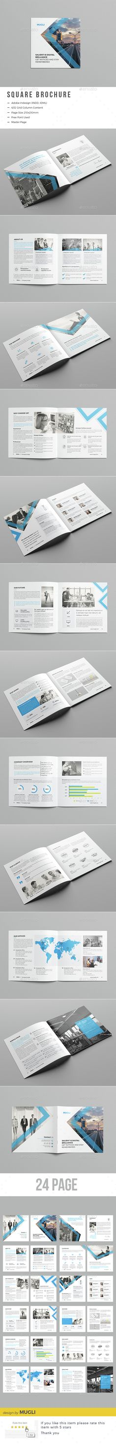 Corporate Square Brochure Template InDesign INDD. Download here: http://graphicriver.net/item/corporate-square-brochure/15302700?ref=ksioks
