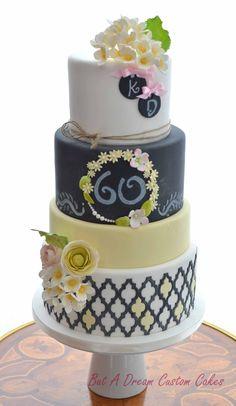 Birthday Cakes - Spring inspired chalkboard birthday cake.