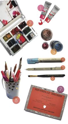 'art supplies - the good stuff ' ~ priceless watercolor tips from a talented illustrator ~ 'katie rodgers' from 'paper fashion' blog  ~ also: follow her on pinterest