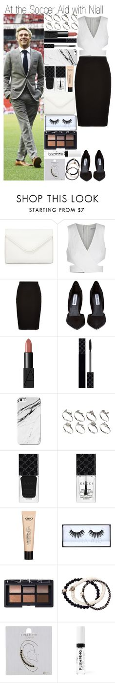 """""""At the Soccer Aid with Niall"""" by fashion-onedirection ❤ liked on Polyvore featuring Neiman Marcus, Finders Keepers, Louche, Steve Madden, NARS Cosmetics, Gucci, ASOS, Huda Beauty, Duchess of Malfi and Topshop"""