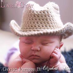 Baby Cowboy Hat Pattern Shelton -I wish I knew how to do this. Crochet Baby Hat Patterns, Crochet Baby Hats, Crochet For Kids, Baby Patterns, Crochet Appliques, Cowboy Baby, Mode Crochet, Knit Crochet, Sombrero Cowboy