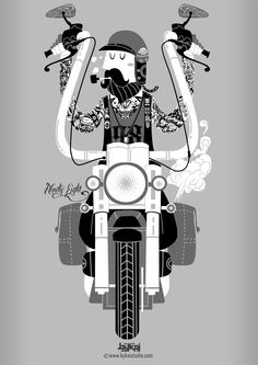 Design by Bykai Studio #illustration #design #motorcycles #motos | caferacerpasion.com