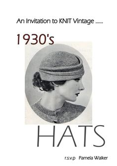 Vintage Knitting Patterns 1930's Hats to Knit by PamoolahVintage