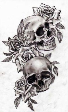 """Résultat de recherche d'images pour """"dessin roses tattoo"""""""