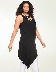 New $118 dress blouse Isabel Toledo women clothing Lane Bryant black tunic top  #LaneBryant #AsitunicdressBlouseblack #EveningOccasionLength3054hilovariation