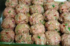 Mango & Tomato: Recipe for Albondigas: Spanish Meatballs ~ serve tapas style