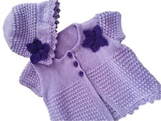 Girl's Knitting Pattern Summer Sun Hat and Jacket , Sun Hat with matching cardigan, Lightweight Cotton Sun Hat and Cardigan babies children