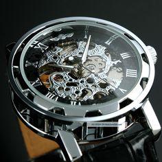elegant Watches for Men | ... Classic Elegant Men ' S Dress Skeleton Mechanical Wrist Watch photo 2