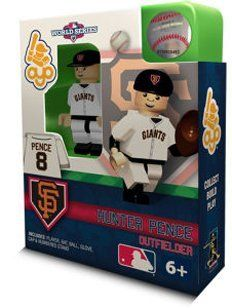 Hunter Pence San Francisco Giants 2012 World Series OYO Building Toy MLB Collectible Figure by Oyo. $8.99. Celebrate the 2012 World Series with this limited edition, individually numbered of 2012 OYO building toy collectible figure.  OYO minifigures are building toys made for the sports fan in all of us. OYO Sportstoys are minifigures designed to resemble Major League Baseball players, and are new to the roster of officially licensed Major League Baseball prod...