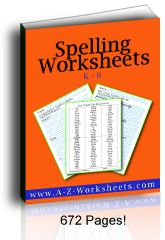 Perfect practice spelling worksheets with practice writing the correct spelling of words three times each.