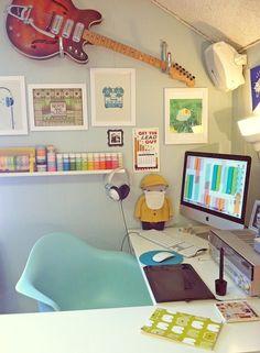 Home-Office Tour: llustrator & Designer Jenny Tiffany