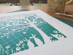 Love in the Wood DIY Papercut Template [COMMERCIAL LICENCE] (if you want it for personal use then get it free here >> embellishcuts.co.uk/freegift)