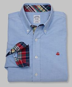 Brooks Brothers Oxford...I really like the pattern on the cuff. I'd always roll up my sleeves.