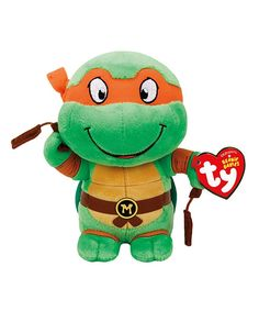 Another great find on #zulily! TMNT Michelangelo Plush Toy by Ty #zulilyfinds