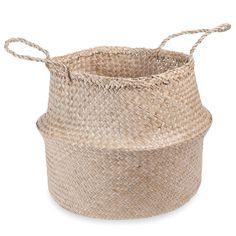 Cestino tailandese in fibra vegetale H.40 cm