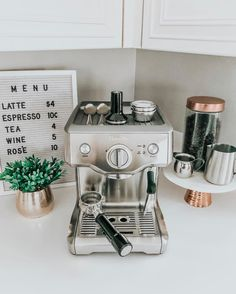 Espresso Maker for the kitchen. Copper … – Style Of Coffee Bar In Kitchen Coffee Station Kitchen, Coffee Bars In Kitchen, Espresso Kitchen, Coffee Bar Home, Home Coffee Stations, Copper Kitchen, Café Espresso, Expresso, Espresso Martini