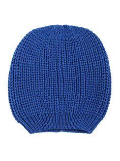 ab30ecb6b47 Blue Lurex Slouch Beanie