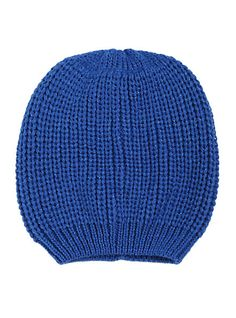 Blue Lurex Slouch Beanie | Hot Topic