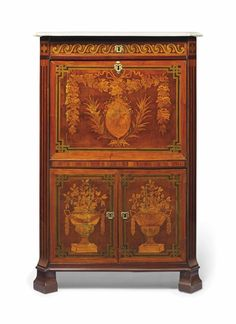 A LOUIS XVI ORMOLU-MOUNTED TULIPWOOD AND MARQUETRY SECRETAIRE A ABBATANT - BY JEAN HOLTHAUSEN, CIRCA 1775.