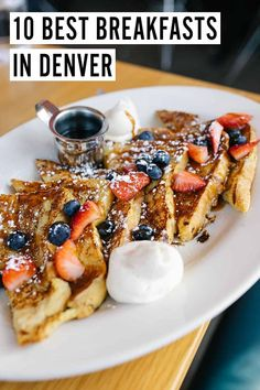 The absolute best breakfast in Denver, featuring 10 restaurants that serve everything from biscuits to french toast to eggs benedict! Good Breakfast Places, Brunch Places, Best Breakfast, Breakfast Recipes, Denver Breakfast, Denver Brunch, Denver Restaurants, Breakfast Restaurants, The Pioneer Woman