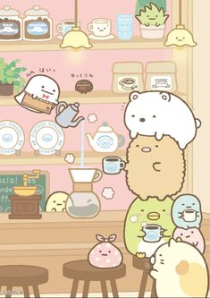 mini Japanese memo pad with Sumikkogurashi at a coffee shop - Memo Pads - Stationery - Kawaii Shop Kawaii Doodles, Cute Doodles, Kawaii Art, Kawaii Shop, Kawaii Wallpaper, Cartoon Wallpaper, Kawaii Drawings, Cute Drawings, Cute Images
