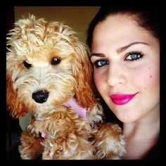 Aw! I want that dog! Lady Antebellum's Hillary Scott with her Goldendoodle