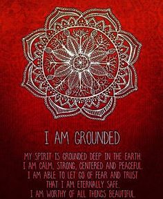 For balancing the root chakra... The Happy Reality Project