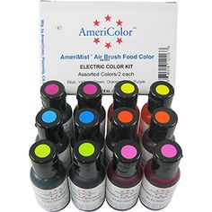 AmeriColor AmeriMist AirBrush Elec  Food Color Kit
