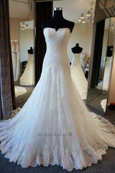 Custom High Quality Mermaid Lace Wedding Dress