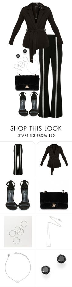 """""""Untitled #3921"""" by theeuropeancloset ❤ liked on Polyvore featuring Jonathan Simkhai, Shoe Cult, Chanel, Estella Bartlett and Bloomingdale's"""