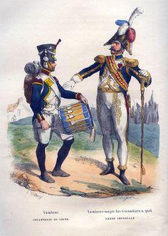 Tambour (Infanterie de Ligne), Tambour-major des Grenadiers a pied (Garde Imperiale)