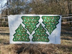 Cranston Fabric Old Fashioned Christmas Tree Uncut Sew and