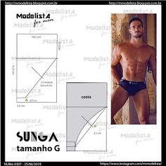 Clothing Patterns, Sewing Patterns, Underwear Pattern, Sewing Men, Modelista, Textiles, Boxers, Fashion Sketches, Knowledge