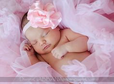 Newborn, Girl, Pink, Bow