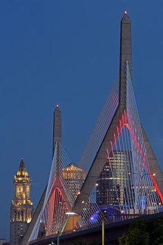 ~~Before Midnight ~ Leonard P. Zakim Bunker Hill Memorial Bridge, Boston skyline by Juergen Roth~~