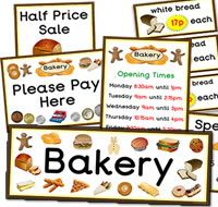 A great selection of Bakery role play resources, for your role play corner.