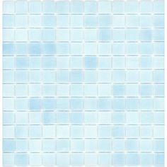 Elida Ceramica Recycled Baltic Blue Glass Mosaic Square Indoor/Outdoor Wall Tile (Common: x Actual: x