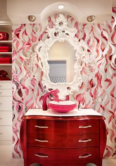 Beautiful glass mosaci by Allison Eden Mosaic Studios. - How Allison Eden Creates Daring Art Interiors With Tile Mosaics | Dig This Design