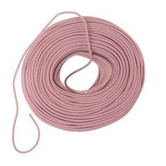 Color Cord Company - DIY Pendant Cord in Bulk - Red & White Zig-Zag