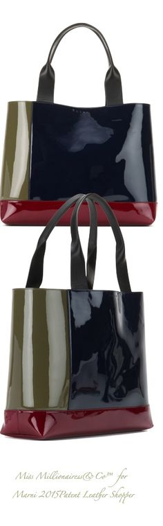 Marni 2015 - Color-Block Patent Leather Shopper
