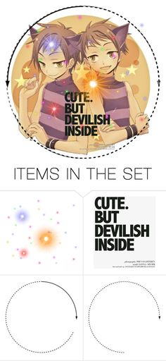 """Twins are the devil"" by kawaii-kittens2 ❤ liked on Polyvore featuring art"