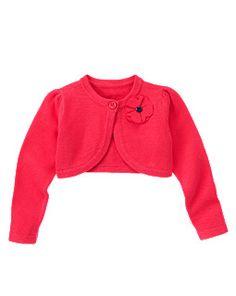 Corsage Crop Sweater Cardigan
