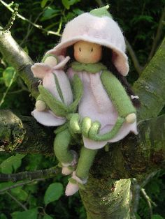 Field bindweed Waldorf doll