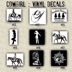 COWGIRL Vinyl Decals Country Western Country Girl Car Decals - Country girl custom vinyl decals for trucks